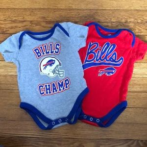 LOT Buffalo Bills NFL Onesies 3-6 month